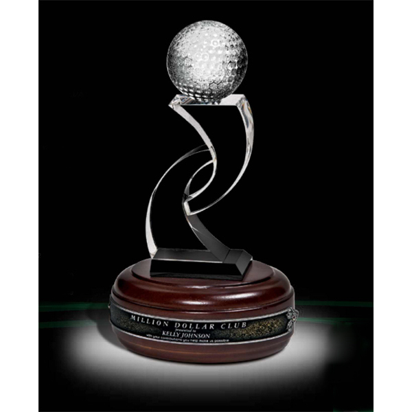 Customized Optical Crystal Golf Award