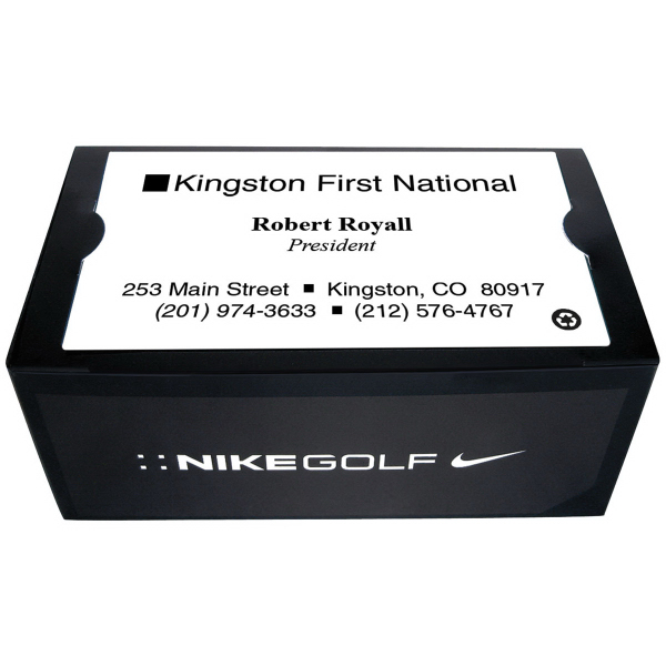 Nike 2 ball business card box with power long usimprints for Nike business card