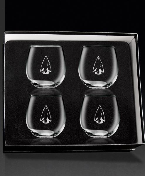 Stemless Red Wine 4-piece giftset