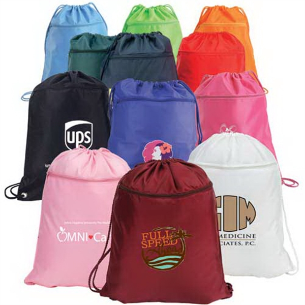 Printed Drawstring Shoulder Pack