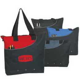 Promotional Polyester Zipper Tote Bag