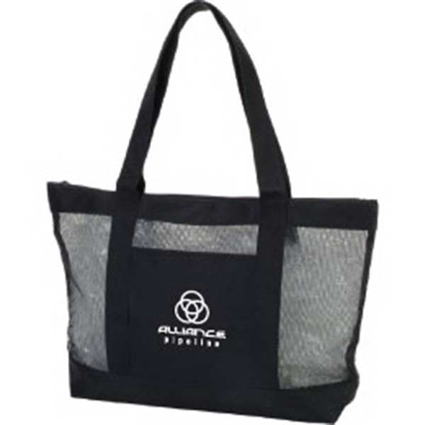 Promotional Mesh Zipper Boat Tote Bag