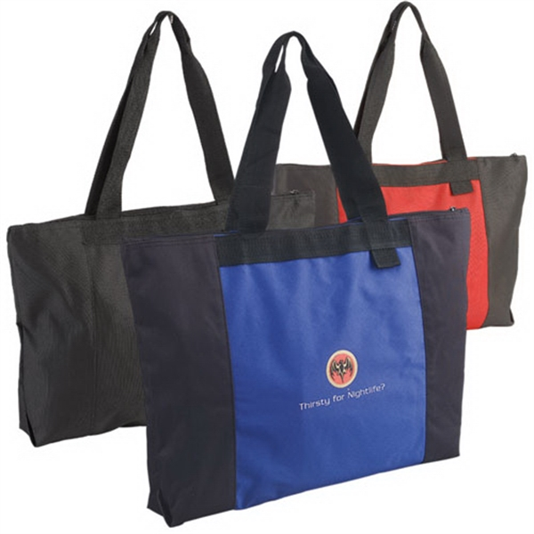 Imprinted Jumbo Two-Tone Tote Bag