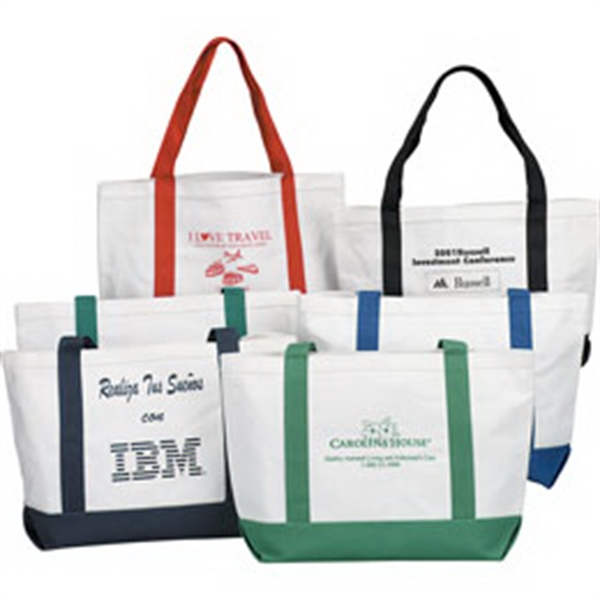 Personalized Canvas Boat Tote Bag