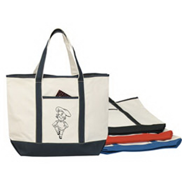Personalized Heavy cotton canvas boat tote bag