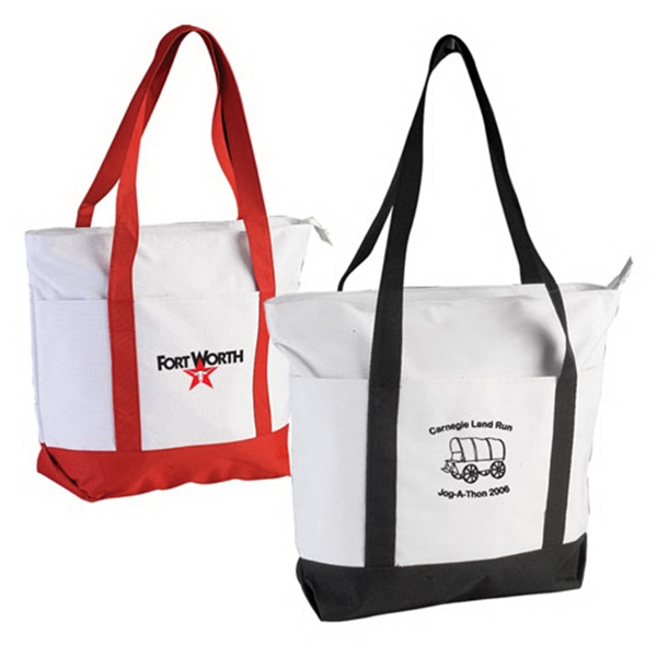 Promotional Two-Tone Boat Tote Bag