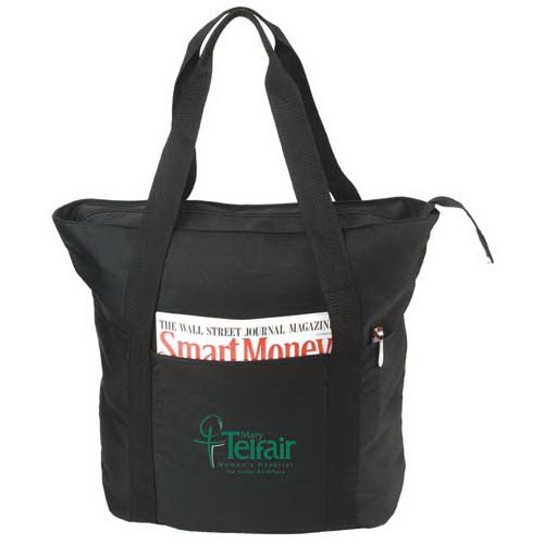 Customized Eco-Friendly Recycled Zippered Tote Bag