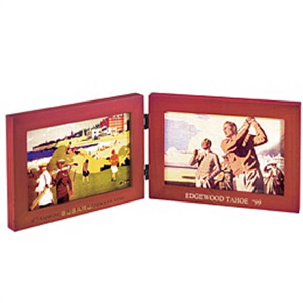 Customized Solid wood double window picture frame