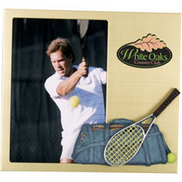 Printed Metal Frame with 3Dpolyresin tennis decoration