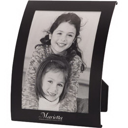 Imprinted Curved metal picture frame