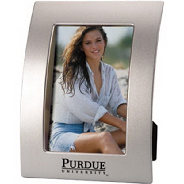 Imprinted Curved style picture frame with easel back