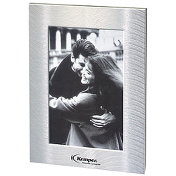 Printed Brushed Silver Metal Picture Frame