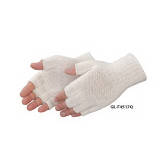 Personalized Fingerless natural cotton / polyester blend work gloves