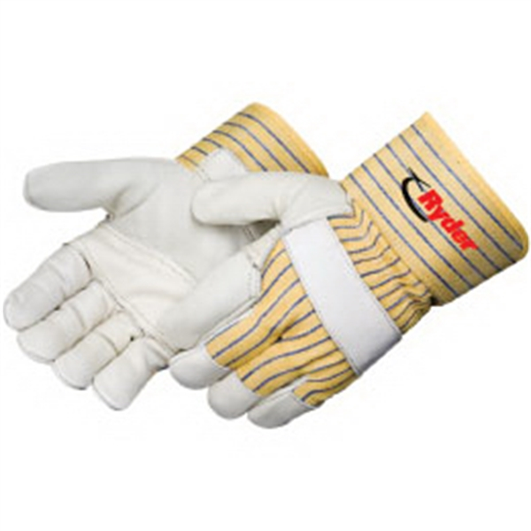 Promotional Grain cowhide work gloves with reinforced palm