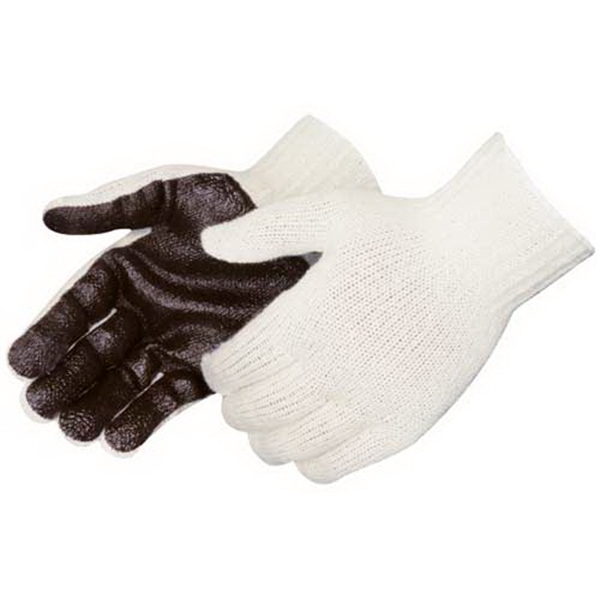 Imprinted PVC palm coated knit gloves