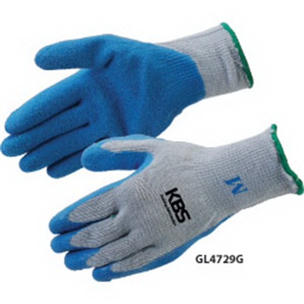 Personalized Blue Textured Latex Palm Coated Gloves