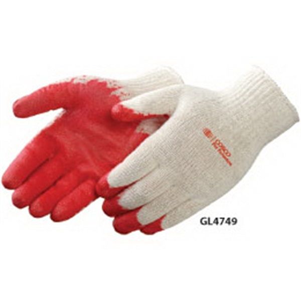 Custom Red Latex Palm Coated Gloves