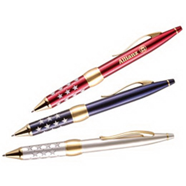 Imprinted Twist action ballpoint pen