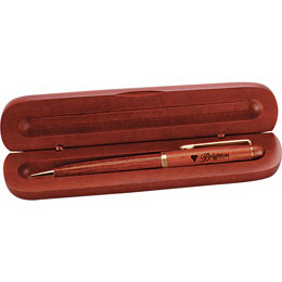 Custom Slim wood pen box, single slot