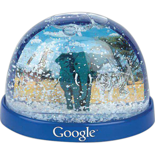 Imprinted Plastic Snow Globe (Imprinted)