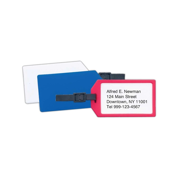 Printed Plastic business card luggage tag