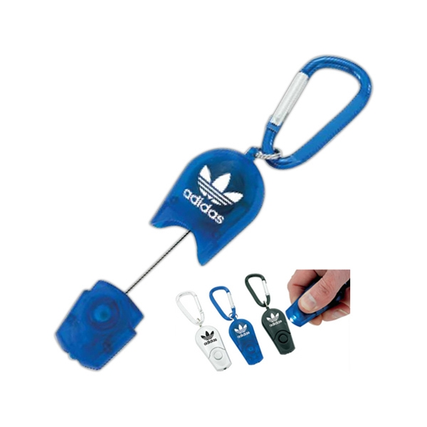 Promotional Retractable LED carabiner key ring