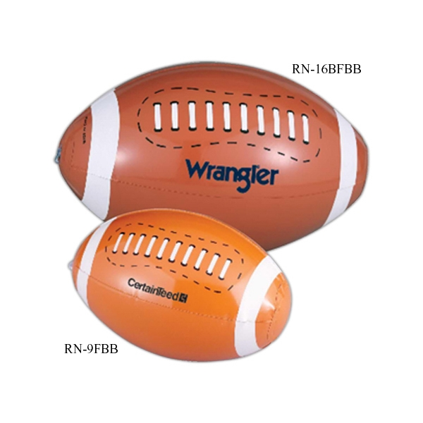"Promotional 9"" football beach ball"
