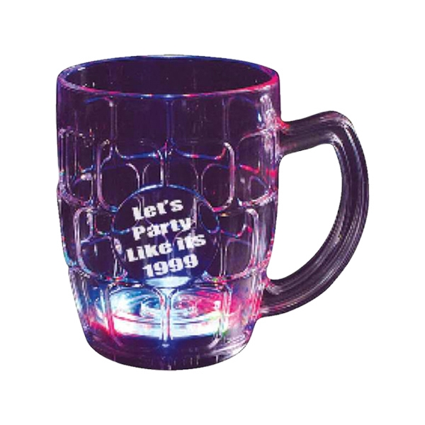 Imprinted Flashing beer mug
