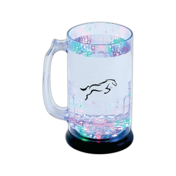 Custom 27 oz rainbow light up beer mug