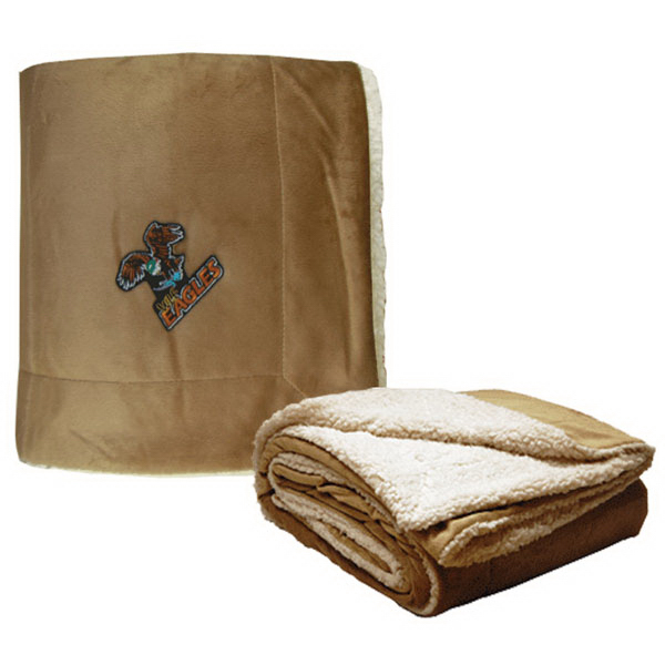 Embroidered Micro Mink Sherpa Blanket