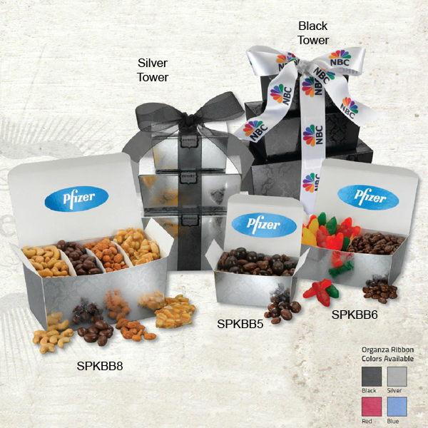 Promotional Black & White gift set in medium box
