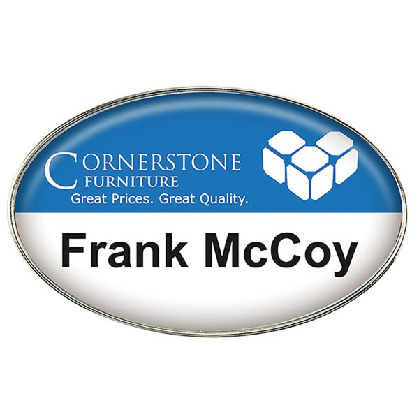 Customized Die Cast Metal Name Badge