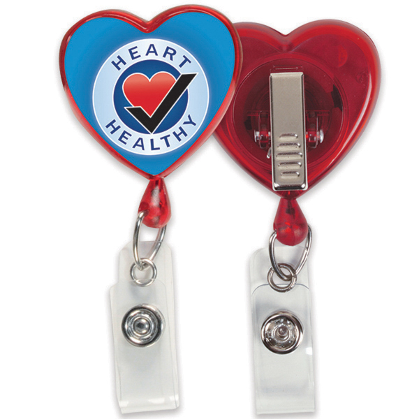 Printed Heart Badge Reel