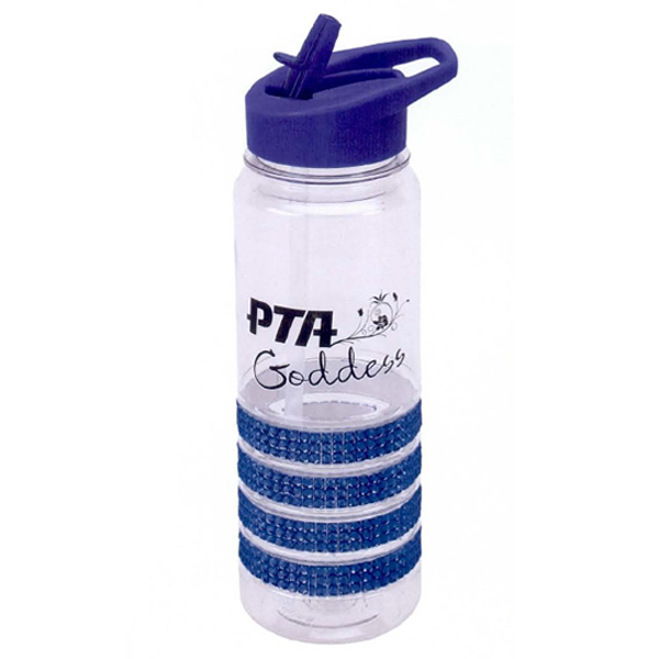 Imprinted 24 oz Bottle with Sparkle Band