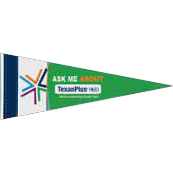 Printed Premium Felt Pennant with Sewn Strip