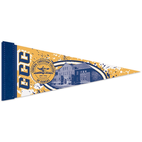 Customized Premium Felt Pennant with Sewn Strip