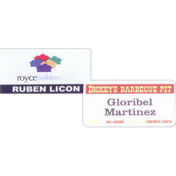 Sublimated Name Badge
