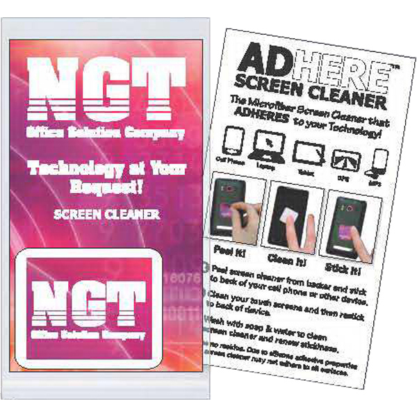 Imprinted Full Color Business Card with Ad-Here (TM) Screen Cleaner