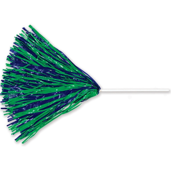 "Unimprinted Vinyl Pom With 10"" Straw Handle"