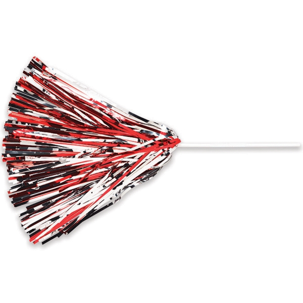 "Unimprinted All-Metallic Pom With 10"" Straw Handle"