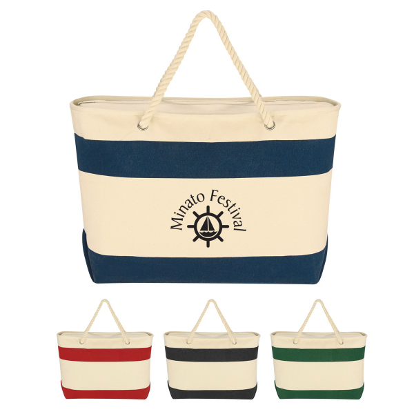Custom Large Cruising Tote With Rope Handles