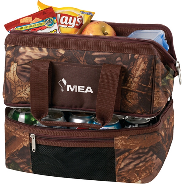 Custom 24 Can Camo Two Compartment Cooler