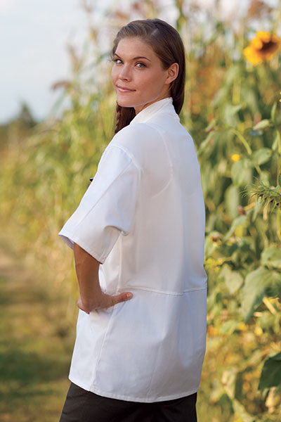 Moisture Control Short Sleeve Chef Coat - White