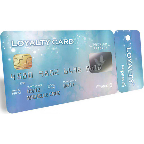 Personalized Teslin (R) Loyalty Card with Key Tag