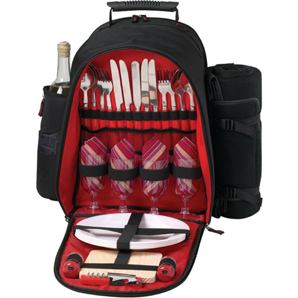 4 Person Ciera Picnic Backpack with Blanket
