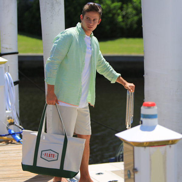 Premium Heavyweight Zippered Cotton Boat Tote