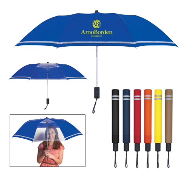 "44"" Arc Two-Tone Safety Umbrella"