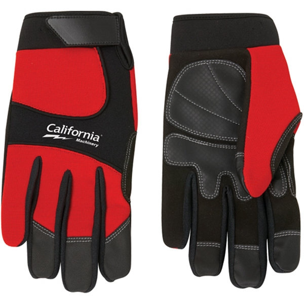 Printed Synthetic Leather Palm Mechanic Style Glove