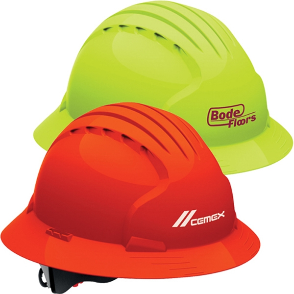 Personalized Evolution (TM) 6161 Full Brim Hi Vis Hard Hat