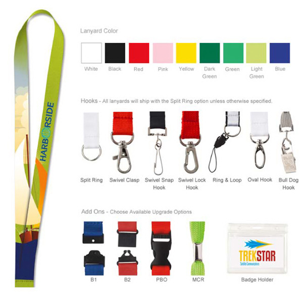 Polyester Lanyard (4-Color Process)